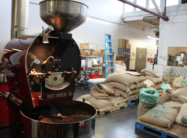 roasting coffee and pallets