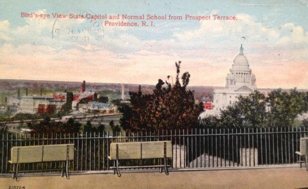 prospect park vintage postcard